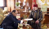 Su Majestad el Rey Mohammed VI recibe, en el Palacio Real en Rabat, a Ahmed Ould Teguedi, ministro de Asuntos Exteriores y de Cooperación de la República Islámica de Mauritania, enviado del presidente mauritano, Mohamed Ould Abdelaziz, ante el Soberano