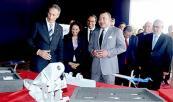 """جلالة الملك إثر تدشين المحطة الصناعية المندمجة """"ميدبارك"""" و إعطاء انطلاقة أشغال بناء مصنع بومبارديي- المغرب"""