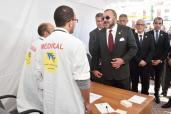 SM el Rey Mohammed VI lanza en Casablanca una campaña médica ambulatoria solidaria y pone la primera piedra para la construcción de un Centro Médico de proximidad en Sidi Moumen