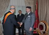 جلالة الملك يستقبل بوجدة سفيري دولة فلسطين واليونان بمناسبة انتهاء مهامهما بالمغرب
