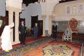 جلالة الملك يستقبل والي جهة الدار البيضاء الكبرى وعامل إقليم برشيد