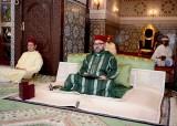 SM el Rey Mohammed VI, Amir Al Muminin (Comendador de los Creyentes), preside, en el Palacio Real de Rabat, la primera charla religiosa del mes de Ramadán