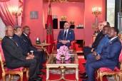 SM el Rey Mohammed VI recibe en Fez a una delegación de los presidentes de la XXV Asamblea Regional África de la Asamblea Parlamentaria de la Francofonía