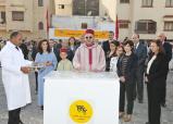 """جلالة الملك يعطي انطلاقة عملية """"رمضان 1434"""" ويضع بالرباط الحجر الأساس لبناء دار الشاب المصاب بالسكري"""