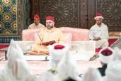 SM el Rey Mohammed VI, Amir Al Muminin (Emir de los Creyentes), preside en el Palacio Real en Casablanca la segunda charla religiosa del mes sagrado del Ramadán