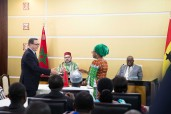 SM el Rey y el Jefe de Estado ghanés presiden la ceremonia de firma de 25 acuerdos bilaterales