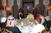 HM King Mohammed VI offers, at the Marrakech royal palace, an official dinner in honor of Emir of the State of Qatar HH Sheikh Tamim Bin Hamad Al Thani