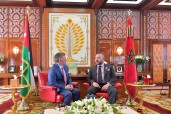 HM King Mohammed VI holds, in the Rabat Royal Office, a private meeting with the Hashemite Sovereign of Jordan, HM King Abdullah II Ibn Al Hussein
