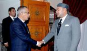 احب الجلالة الملك محمد السادس، نصره الله، يستقبل، في أرفود، رئيس الوزراء الليبي، السيد علي زيدان
