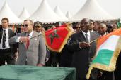 HM King Mohammed VI launches in Abidjan construction of factory for cement packaging bags, visits 'Addoha' Group cement plant