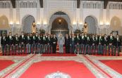 HM King Mohammed VI offeres, in Casablanca royal palace, a reception in honor of members of the Raja Club Athletic football team