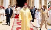 SM el Rey Mohammed VI, Amir Al Muminin, cumple la oración del viernes en la mezquita Lalla Asmae en Rabat