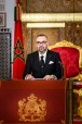 Fez - HM King Mohammed VI delivers a speech to the Nation on the occasion of the 68th anniversary of