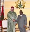 SM el Rey se reúne a solas en Acra con el presidente ghanés