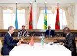 SM el Rey Mohammed VI y el presidente ruandés, Paul Kagamé, presiden la ceremonia de firma de 19 convenios y acuerdos bilaterales