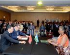 SM el Rey y el presidente Ruandés presiden la ceremonia del lanzamiento de un programa de partenariado agrícola entre Marruecos y Ruanda