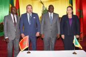 SM el Rey y el jefe de Estado senegalés presiden la ceremonia de puesta en marcha del Grupo de Impulso Económico marroquí-senegalés