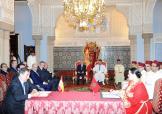 جلالة الملك يجري مباحثات مع العاهل الإسباني