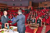 HM the King, Gabonese President Chair Presentation Ceremony of Moroccan-Gabonese Cooperation in Human Development