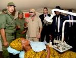 SM el Rey visita el hospital de campaña de las Fuerzas Armadas Reales desplegado en Yuba