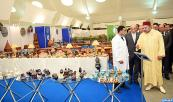 HM King Mohammed VI inaugurates, at the Casablanca's fairs and exhibitions office, a craft fair for products designed by inmates