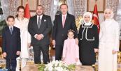 SM el Rey Mohammed VI invitado a un té con la familia del Presidente de la República de Turquía, Recep Tayyip Erdogan