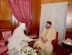 HM King Mohammed VI receives, at the royal palace in Casablanca, Jamal Eddine Al Boutchichi Al Qadiri Who Offered Him Condolences Over Death of His Father Sheikh Hamza Al Qadiri Boutchich