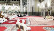 SM el Rey, Amir Al Muminin, preside en el Palacio Real de Casablanca la cuarta charla religiosa de la serie de las charlas hasaníes del mes sagrado de Ramadán
