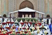 SM el Rey Mohammed VI preside la ceremonia de presentación de las felicitaciones y de las ofrendas (La Hdiya), que marca el comienzo de las festividades de la boda de SAR el Príncipe Moulay Rachid con Lalla Oum Keltoum