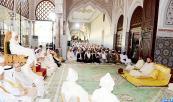 SM el Rey Mohammed VI, Amir Al Muminin, preside, en el Palacio Real de Rabat, la tercera charla religiosa de la serie de charlas hasaníes del mes sagrado del Ramadán