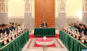 HM King Mohammed VI chairs,at the Marrakech royal palace, a council of ministers