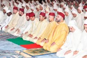 SM el Rey Mohammed VI, Amir Al Muminin, preside en la mezquita Hassan II en Casablanca una velada religiosa en conmemoración de Laylat Al-Qadr