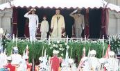 SM el Rey Mohammed VI preside, en la plaza del Mechouar en el Palacio Real de Rabat, la ceremonia de prestación de juramento de los oficiales graduados por los diferentes institutos y escuelas militares y paramilitares, así como de los oficiales ascendidos