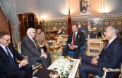 SM el Rey Mohammed VI recibe, en el Palacio Real de Marrakech, a Frank-Walter Steinmeier, ministro federal de Asuntos Exteriores alemán