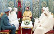 SM el Rey Mohammed VI recibe, en el Palacio Real de Tetuán (norte de Marruecos), a los miembros de la delegación oficial que viajará a los Lugares Santos del Islam para la peregrinación