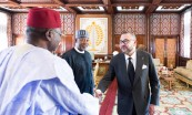 HM King Mohammed VI receives, at the Rabat Royal Palace, His Excellency Mr Hadi Sirika, state minister for transportation of the Federal Republic of Nigeria