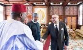 SM el Rey Mohammed VI recibe, en el Palacio Real de Rabat, a Hadi Sirika, ministro de Estado de transporte de la República Federal de Nigeria