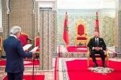 SM el Rey Mohammed VI recibe en el Palacio Real de Tetuán (norte), a Abdellatif Jouahri, Wali (gobernador) de Bank Al Maghrib (Banco Central)