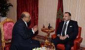 SM el Rey recibe a Mohamed Ibrahim