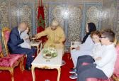 SM el Rey recibe a los miembros de la familia de la difunta Loubna Lafquiri, víctima marroquí de los atentados de Bruselas