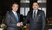 HM King Mohammed VI receives in the Royal palace in Rabat, Chinese foreign minister Wang Yi