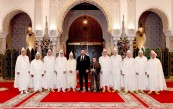 HM King Mohammed VI receives, at the Royal Palace in Casablanca, the president and members of the Constitutional Court, whom the Sovereign named to their new positions