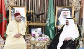 HM King Mohammed VI Pays courtesy visit to the Custodian of Two Holy Mosques, King Abdullah Bin Abdulaziz, as part of the Sovereign's visit to the Kingdom of Saudi Arabia