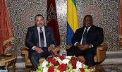 HM King Mohammed VI  holds, at the Presidential Palace in Libreville,  talks with Gabonese President Haj Ali Bongo Ondimba
