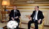 SM el Rey se entrevista en el Elíseo con el Presidente francés