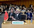 SM el Rey Mohammed VI llaga a la sede de la Unión Africana (UA) en Adís Abeba