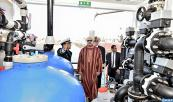 "HM King Mohammed VI, Supreme Commander and Chief of General Staff of the Royal Armed Forces (FAR), inaugurates, at the Port of Dakhla, the ""Oued Massa"" seawater desalination vessel"