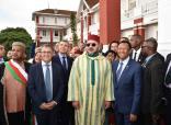 SM el Rey Mohammed VI visita un hotel en Antsirabe, donde se alojaba el difunto SM el Rey Mohammed V durante su exilio