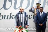 HM King Mohammed VI visits, in Gisozi (Kigali suburbs), the memorial commemorating the victims of the Rwandan genocide