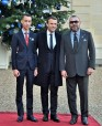 Paris - HM King Mohammed VI, accompanied by HRH Crown Prince Moulay El Hassan and French President, in the One Planet Summit
